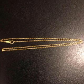 クロムハーツ(Chrome Hearts)の18金シンプルチェーン50センチ(ネックレス)