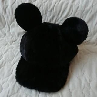 ディズニー(Disney)のディズニーリゾート ミッキーキャップ 黒(キャップ)