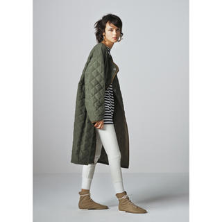 BEAUTY&YOUTH UNITED ARROWS - <6(ROKU)>QUILTED COAT OLIVE/コート