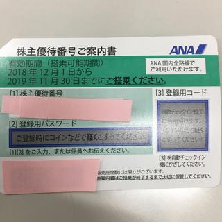 エーエヌエー(ゼンニッポンクウユ)(ANA(全日本空輸))のANA 全日空 株主優待券(航空券)
