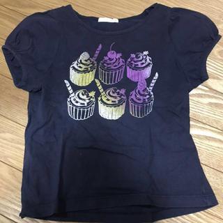 ジーユー(GU)のGU 子供服 キッズ 女の子 120 イラストTシャツ カップケーキ(Tシャツ/カットソー)