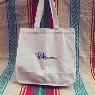 Ron Herman - 刺繍ロゴキャンバス地ユニセックストートバッグエコバッグマザーズバッグ ホワイト
