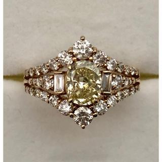 k18ピンクゴールド、大粒ダイヤリング   1.006ct(リング(指輪))