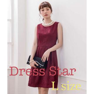 ダマスク柄 パーティードレス(Dress Star)(ミディアムドレス)