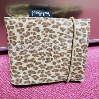 オゾック(OZOC)のOZOC ヒョウ柄 折り畳み財布(折り財布)