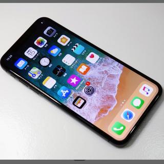 アイフォーン(iPhone)の【美品】iPhone X 64GB スペースグレイ(スマートフォン本体)