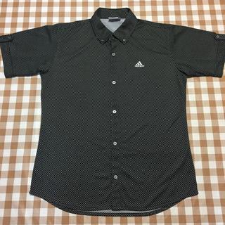 アディダス(adidas)のadidas アディダス  ポロシャツ シャツ ドット ブラック O 未使用(ポロシャツ)