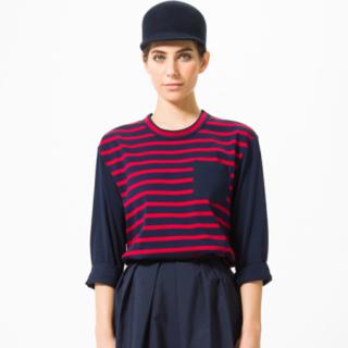 シー(SEA)のSEA ❘ ボーダーロングTシャツ(Tシャツ(長袖/七分))