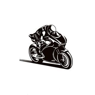 バイク ライダー カッティングステッカー 5(ステッカー)