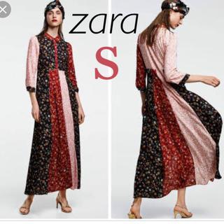 ZARA - 新品 未使用 ザラ フラワー ロングワンピース