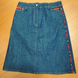 タータンショップヨーク(TARTANSHOP YORK)のヨークランド デニムスカート(ひざ丈スカート)