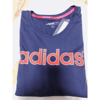 アディダス(adidas)のADIDAS レディース ロングTシャツ Mサイズ(Tシャツ(長袖/七分))