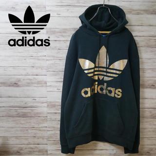 adidas - Adidas Originals ビッグロゴ スウェットパーカー ゴールド