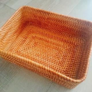 ムジルシリョウヒン(MUJI (無印良品))の無印良品*重なるラタン長方形バスケット2個セット(バスケット/かご)