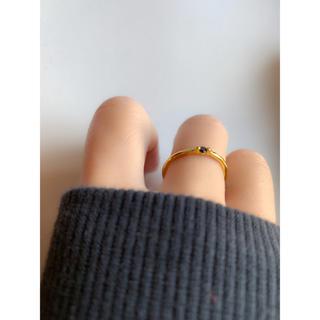 ゴールド、8号 ジルコニア入り!細めsilver925リング import(リング(指輪))