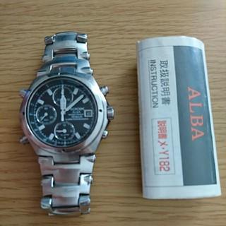アルバ(ALBA)のROOX ALBA アルバクオーツ クロノグラフ 腕時計(腕時計(アナログ))