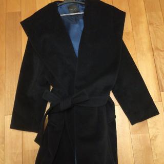 ジャストビギ(JUST BIGI)のJUST  BIGI  紺色 フード付きコート(ロングコート)