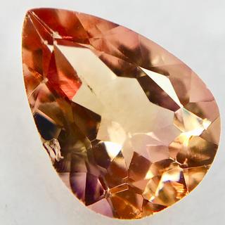 特価 魅惑のシェリーカラー 0.6ct UP 天然 インペリアルトパーズ ルース(リング(指輪))