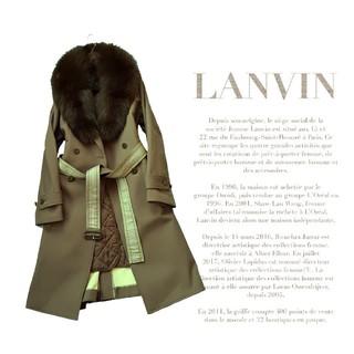 ランバン(LANVIN)の超高級 ランバン 一級品豪華天然ビッグリアルファー ベルテッドコート ライナー付(毛皮/ファーコート)
