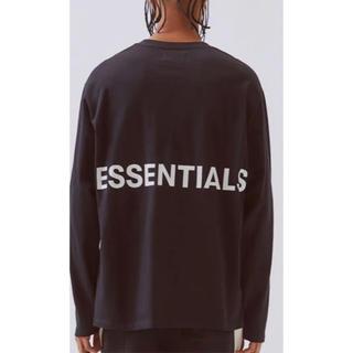 FEAR OF GOD - fog essentials  ロンT黒 新品未使用タグつき納品書つき