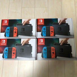 ニンテンドースイッチ(Nintendo Switch)の新品 ニンテンドースイッチ 4台 ネオン (家庭用ゲーム本体)