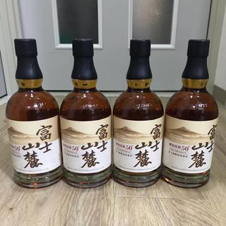 キリン(キリン)の新品 未開封 4本セット 富士山麓 樽熟 原酒 50°(ウイスキー)