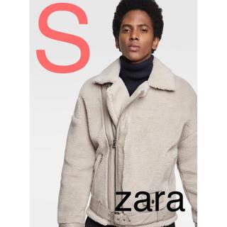 ザラ(ZARA)の新品 ♡ ZARA フェイクファー ライダース アウター ボア ブルゾン(ブルゾン)