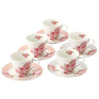 LAURA ASHLEY - 【期間限定】ローラアシュレイ 5客コーヒーセットとファイブプレートセット