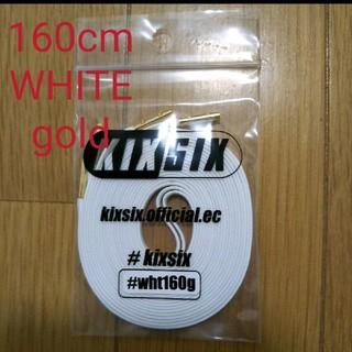 160 WHITE/goldチップ KIXSIX WAXED SHOELACE