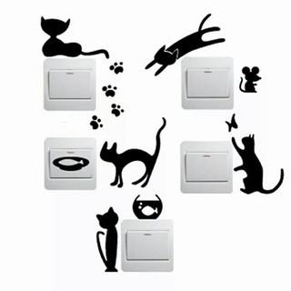 新品 キャット ウォールステッカー 5種類 猫 ねこ インテリア 壁紙 シール(その他)