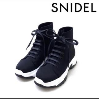 snidel - SNIDEL 2018 完売品 レースアップ スニーカー ソール