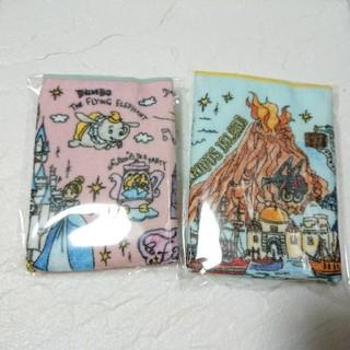 ディズニー(Disney)のディズニー ファンマップ 手書き風デザイン ミニタオル バラ売り 2枚セット(キャラクターグッズ)