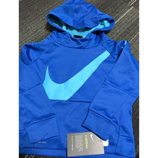 ナイキ(NIKE)の新品ナイキ ブルー パーカー 3T 90-95(Tシャツ/カットソー)