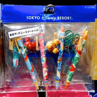 ディズニー(Disney)のディズニー夏祭り ボールペンセット(キャラクターグッズ)