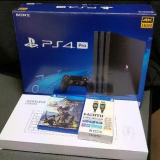 プレイステーション4(PlayStation4)の即日発送可能 PS4 PRO (CUH-7100B)MHWセット おまけ付(家庭用ゲーム本体)
