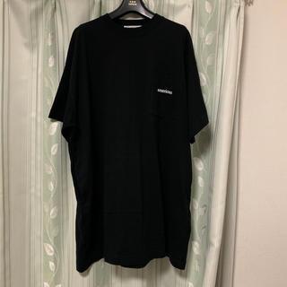 アメリカーナ(AMERICANA)のAMERICANA アメリカーナ  ワンピース ブラック(Tシャツ(半袖/袖なし))