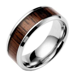 個性的な コアの木 リング サージカルステンレス 指輪 メンズ アクセサリー(リング(指輪))