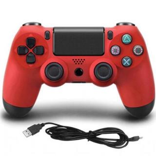 PlayStation4 - 【即購入可】PS3 PS4 ゲームコントローラー レッド(有線)