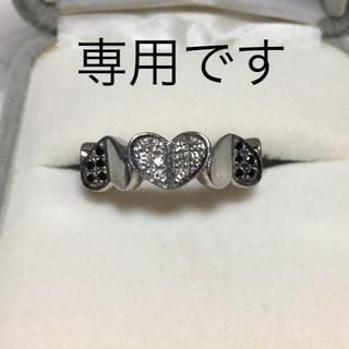 K18WG  ダイア、ブラックダイアリング(リング(指輪))