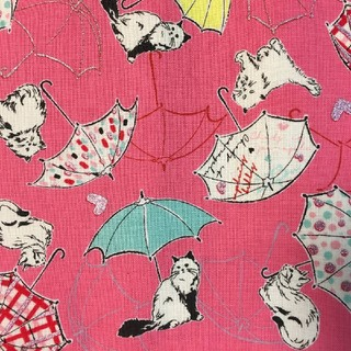【すだっちん様☆専用】文庫本ブックカバー♡傘とハートのレディ猫(ブックカバー)