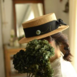 カワムラ帽子店 カンカン帽(麦わら帽子/ストローハット)