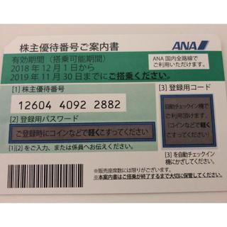 エーエヌエー(ゼンニッポンクウユ)(ANA(全日本空輸))の専用 株主優待 ANA(航空券)