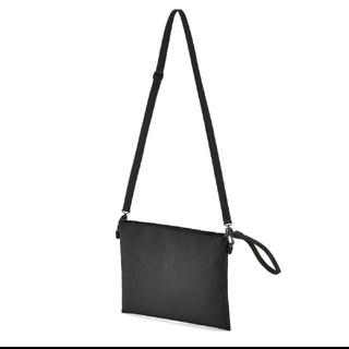 MUJI (無印良品) - 無印良品 撥水ショルダーバッグ、サコッシュ ブラック