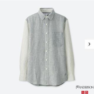 ユニクロ(UNIQLO)のユニクロ JW アンダーソン リネンコットンシャツ 長袖 S グレー 新品未使用(シャツ)