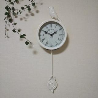 フランフラン(Francfranc)のアンティーク風 小鳥 振り子時計(掛時計/柱時計)