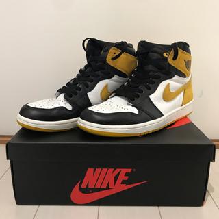 NIKE - 26.5 Nike air jordan 1 yellow ochre 黄色