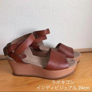 サヤラボキゴシ(SAYA / RABOKIGOSHI)の インディビジュアル(ラボ・キゴシ)ウェッジサンダル 24cm (サンダル)