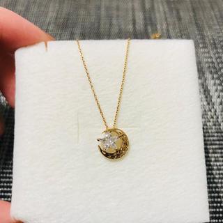 STAR JEWELRY - starjewelry  K10YG 星と月モチーフ ネックレス