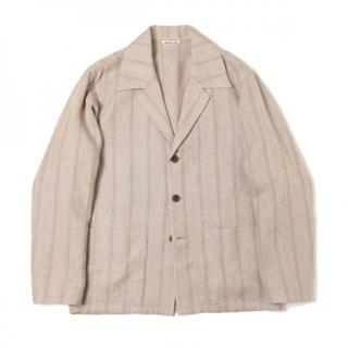 コモリ(COMOLI)のauralee  shark skin shirts jacket size3(テーラードジャケット)
