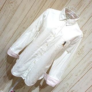 ディズニー(Disney)の白シャツ ★ ミッキー(シャツ/ブラウス(長袖/七分))